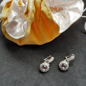 Sterling 3.00 ct tw Gemstone Drop Earrings